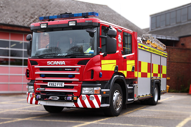scania ultra heavy rescue fire engine hereford worcester fire