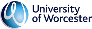 Worcester University logo and website link